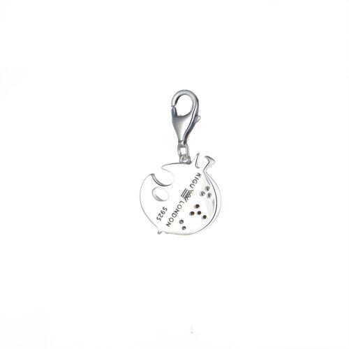 Charm for Bracelet Pendant Sterling Silver Clip Jewelry Gift Women Palette Paint