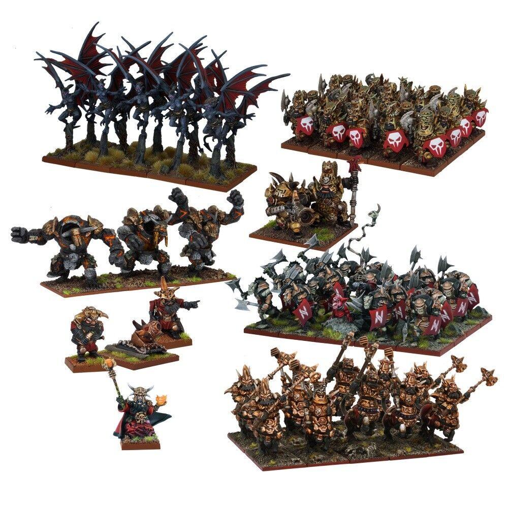 KINGS OF WAR Abyssal Dwarf Entièrement neuf dans sa boîte Abyssal Dwarf Mega armée (2017) MGKWK 111