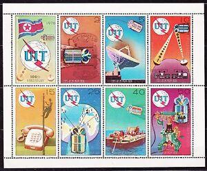 KOREA-Pn-1976-MNH-SC-1435a-Sheet-Telephone-Communication-Centenary-UIT
