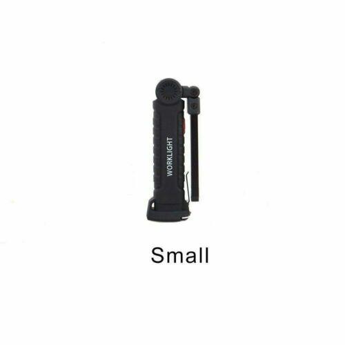 Rechargeable COB DEL slim Lampe de travail lampe de poche pliable torche magnétique 18650