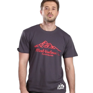 Adults MensTour De France Mount Ventoux Grey Cotton Cycling TShirt