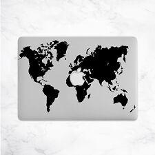 World Map Decal for Macbook Pro Sticker Vinyl Laptop Mac Skin Notebook Travel 13