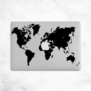 image is loading world map decal for macbook pro sticker vinyl