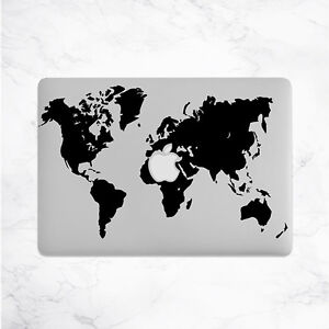 World map decal for macbook pro sticker vinyl air mac 13 15 11 la imagen se est cargando mapa del mundo vinilo pegatina calcomania para macbook gumiabroncs Gallery
