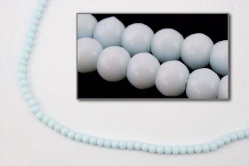25 Pcs #GAF001 8mm Opaque Baby Blue Druk Bead