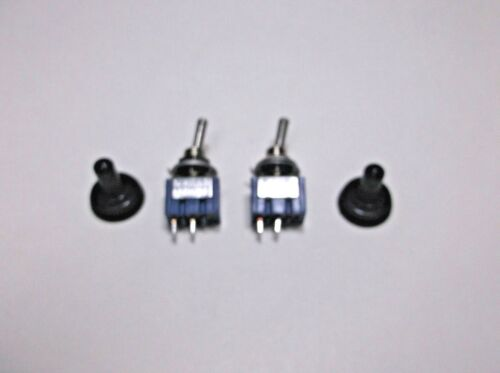 2 BBT Marine Grade On//Off 12 v,10 a Mini Toggle Switches w// Waterproof Boots