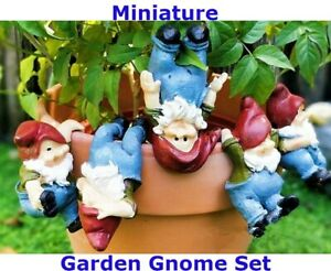 Miniature Funny Cute Plant Pot Naughty Gnomes Gnome Set for Planters Decorations