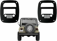 Jeep Grill Tail Light Covers For 1985-2006 Jeep Wrangler New Free Shipping USA