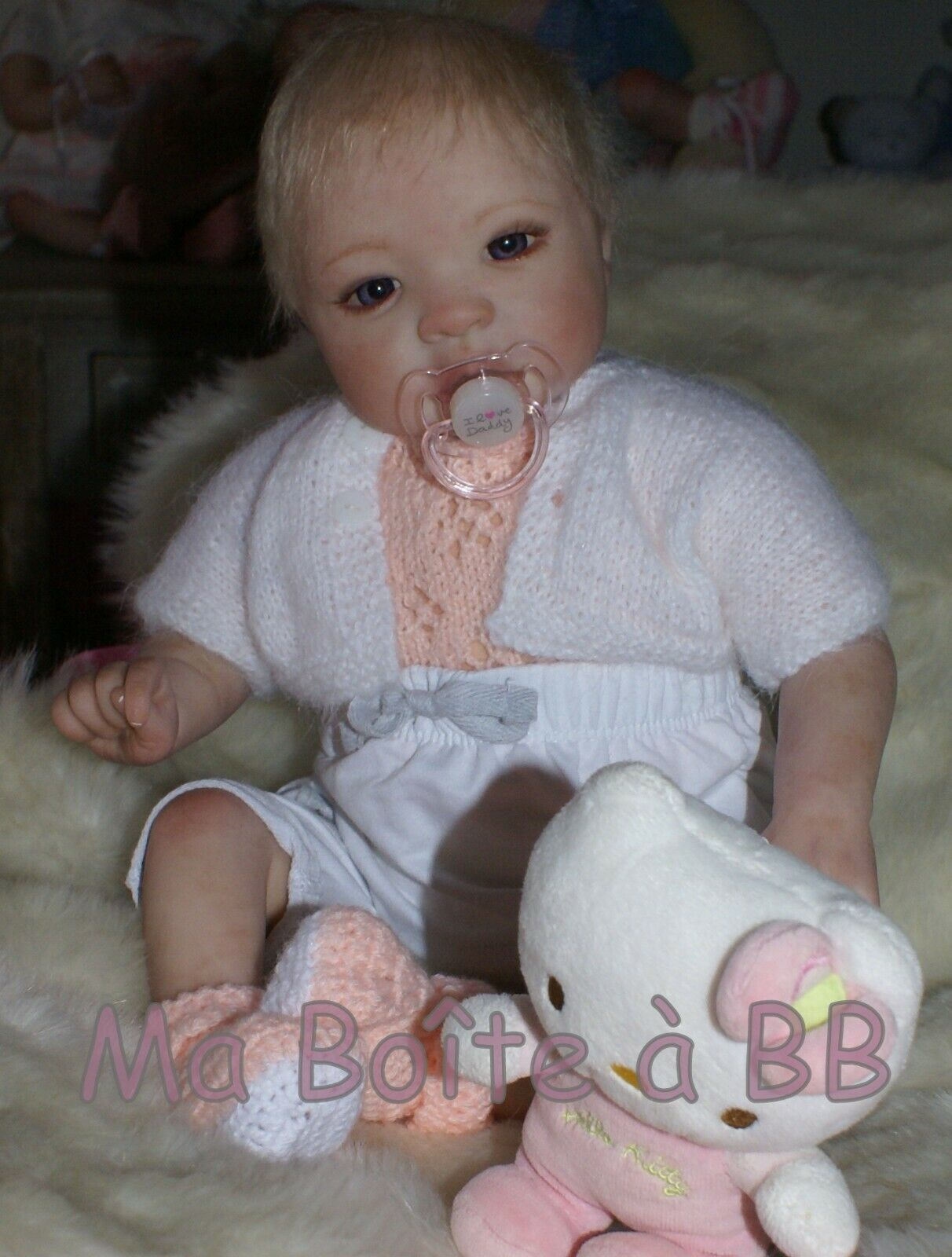Lilia, Bébé reborn d'artiste de la nurserie Ma Boîte à BB