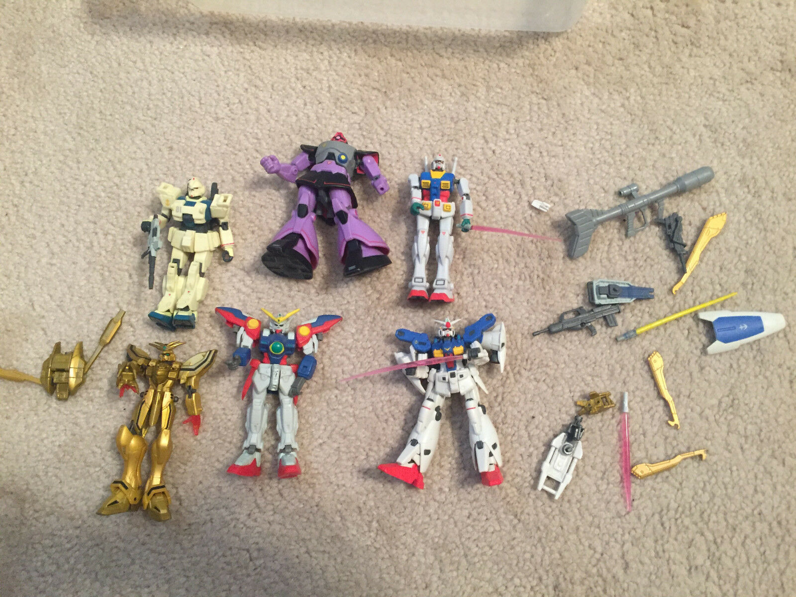 GUNDAM FIGURES ROBOT LOT WITH WEAPONS ANIME BANDAI 3.5 3.5 3.5 INCHES e70a64