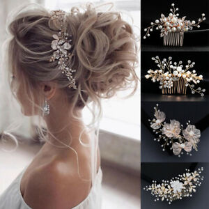 Details about Floral Hair Clips Wedding Hair Accessories Bride Headpiece  Bridal Hair Comb