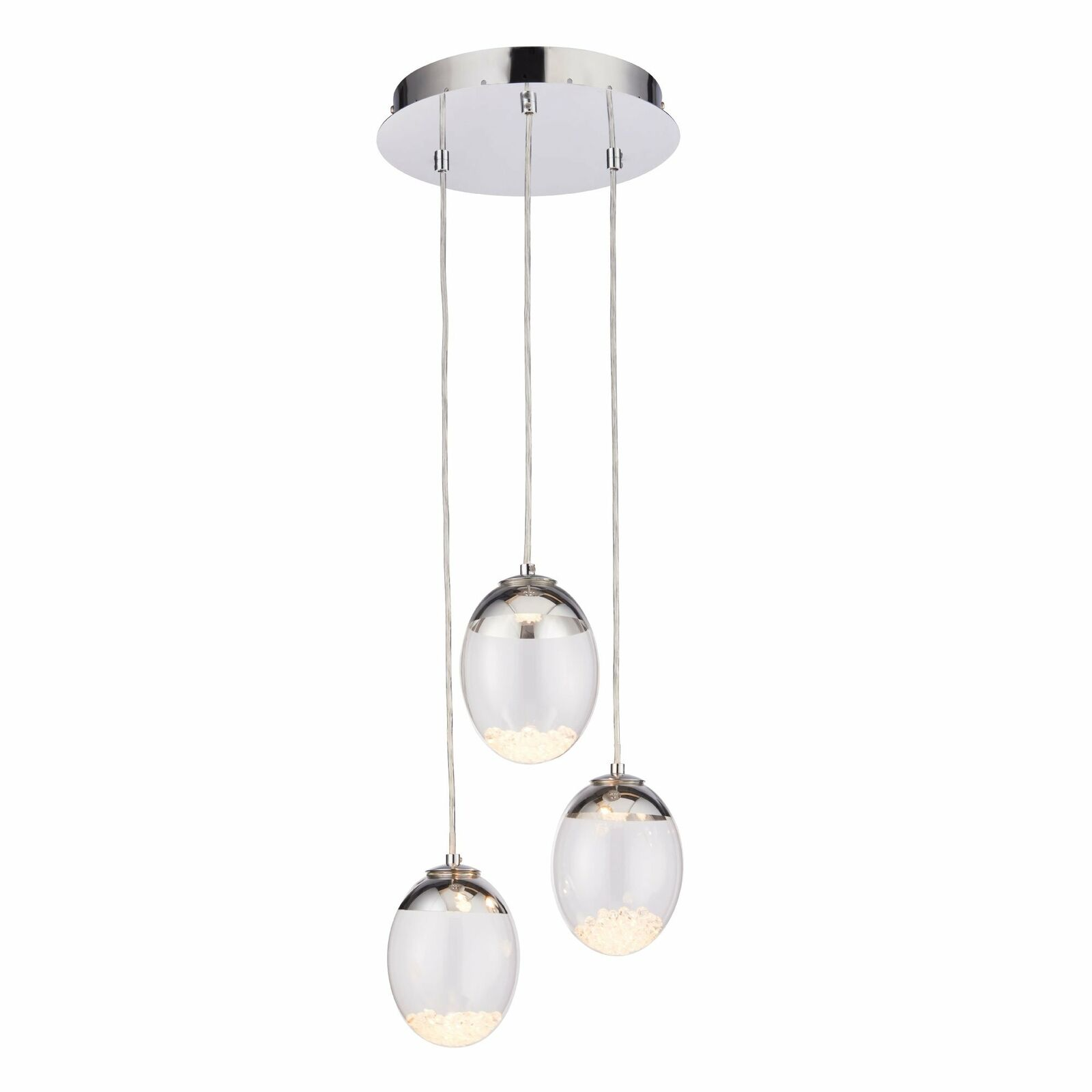 Endon Lighting Oria LED Pendant Ceiling Light Polished Chrome 76312
