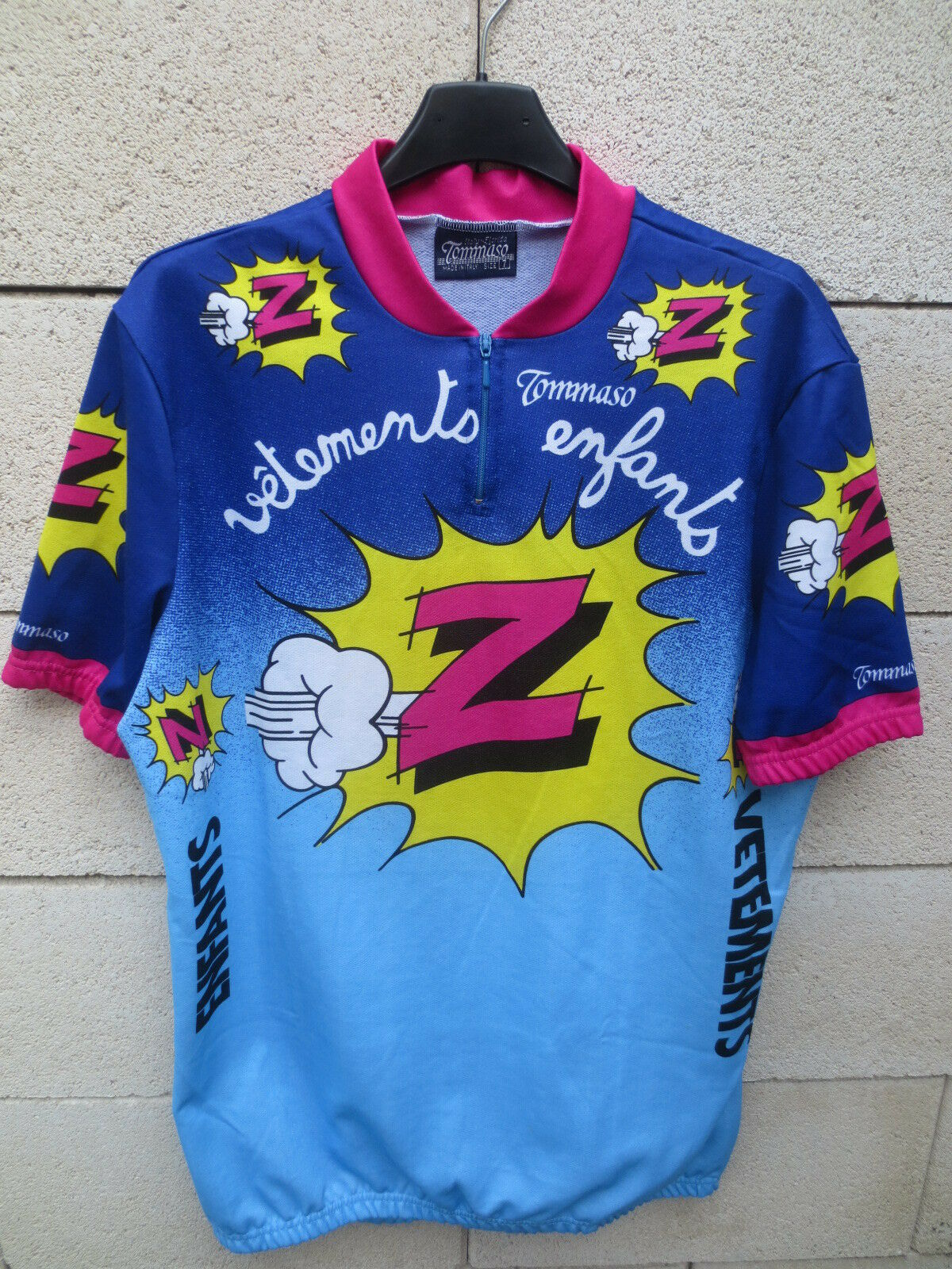 VINTAGE Maillot cycliste  Z Greg Lemond cycling jersey Tour France 1990 shirt 7  free and fast delivery available