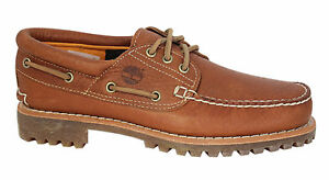 Details about Timberland Heritage 3 Eye Classic Lug Boat Shoes Mens Claypot Tan A14N9 D50