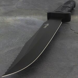 """13"""" TACTICAL SURVIVOR BOWIE HUNTING KNIFE w/ GLASS BREAKER Survival Fixed Blade"""