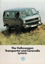 Volkswagen Transporter & Caravelle Syncro 1985-86 UK Market Sales Brochure