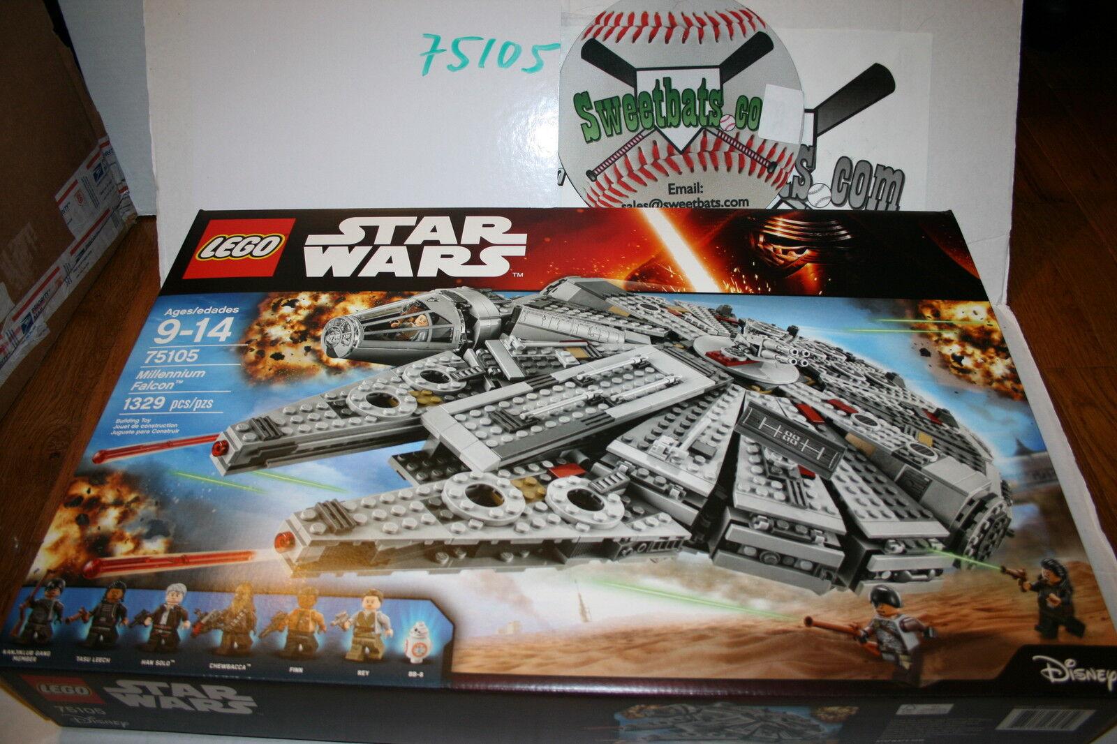 Lego star wars millennium - falken im neuen nib 75105 1329 pcs han solo weich