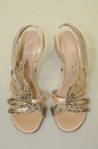 40 Crystals New Royal 36 36 5 Shoes Strass Rossi Sergio Matrimonio Satin Nude wYYPUpAq