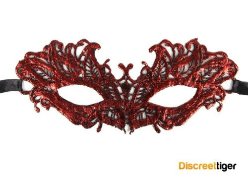 Stunning Red Eye Mask For Masquerade Costume Party or Mardi Gras