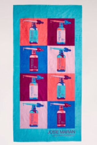 Josie Maran ~ ARGAN RETRO BEACH TOWEL Limited Edition  ~ Brand New with tag