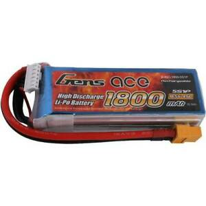 Batterie rechargeable Lipo Gens Ace 18.5 V 1800 Mah Nombre de cellules 5 45 C