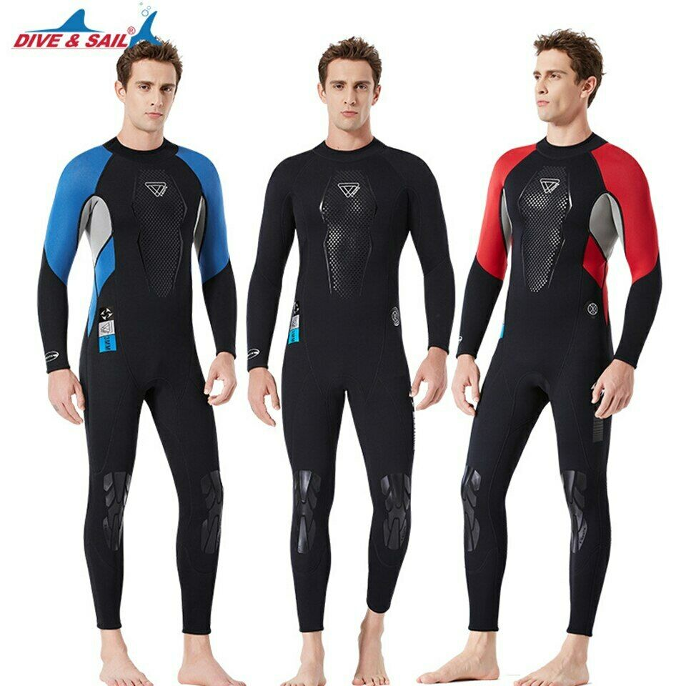 3MM Neoprene Fullbody One-Piece  Wetsuit Men Anti-scratch Swimsuit Surfing Scuba  first time reply
