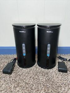 SET OF 2 AUDIO UNLIMITED 900MHz WIRELESS SPEAKERS + AC Adapters ONLY