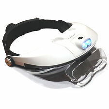 HAWK MG9008 - Light Weight Illuminated Head Magnifier With Adjustable Strap New