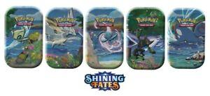 Shining Fates Pokemon Mini Tins x 5 SEALED Complete Set 10 packs