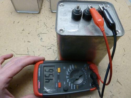 GE Dielektrol 97F8126 7.5kvar 550VAC 45uF pfc power factor capacitor 10-Q.2