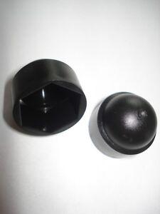 Lote-de-100-tapa-tornillos-negros-pvc-para-tuerca-M24
