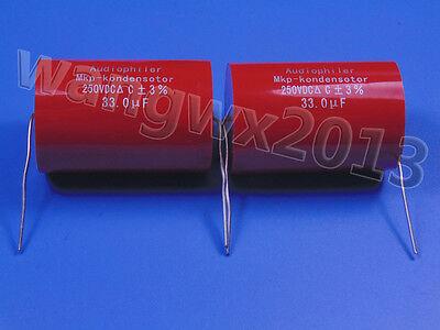 2pcs 250V 50uF MKP Crossover Membrane Polypropylene Non-Polarized Capacitor