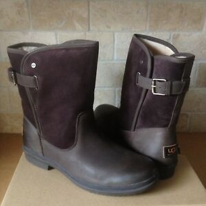 7231c2def0f Details about UGG OREN STOUT WATERPROOF LEATHER SUEDE RAIN SHORT BOOTS SIZE  US 9 WOMENS