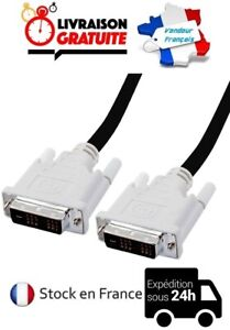CABLE-CORDON-DVI-18-1-VIDEO-1-50M-ECRAN-MONITEUR-TFT-HAUTE-QUALITE