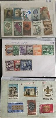 3 Sets Of Cyprus Stamps Europe