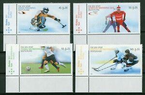Bund-2781-2782-2788-2789-Eckrand-postfrisch-Motiv-Sport-BRD-2010-MNH