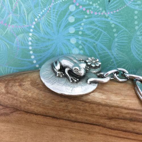 Australian Made Pewter Gift Frog Pewter Keyring Keychain