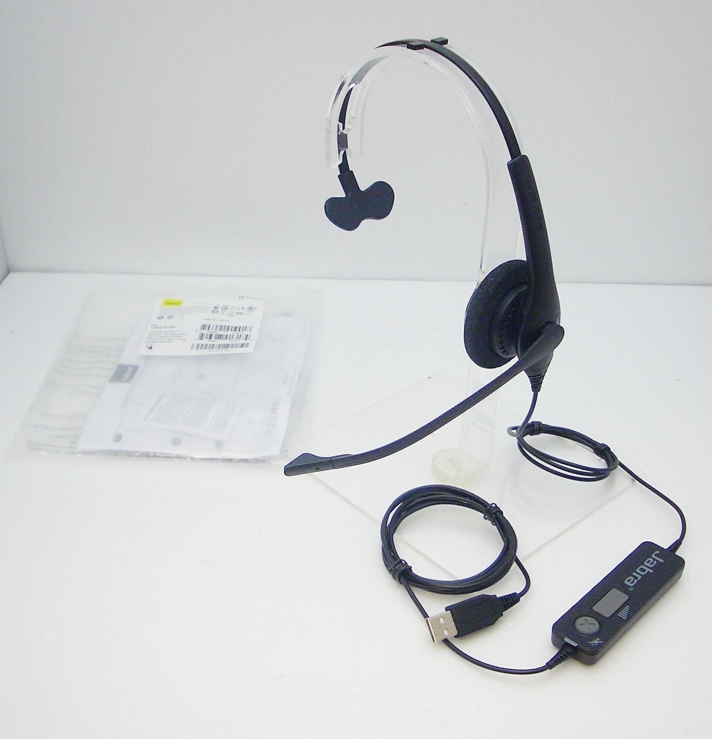 Jabra BIZ 1500 USB Mono Corded Headset 1553-0159 w// Noise Canceling Microphone
