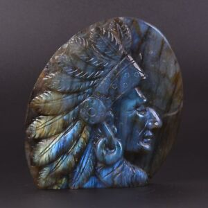 k28529-101mm-Carved-natural-labradorite-gemstone-Indian-figurine-statue