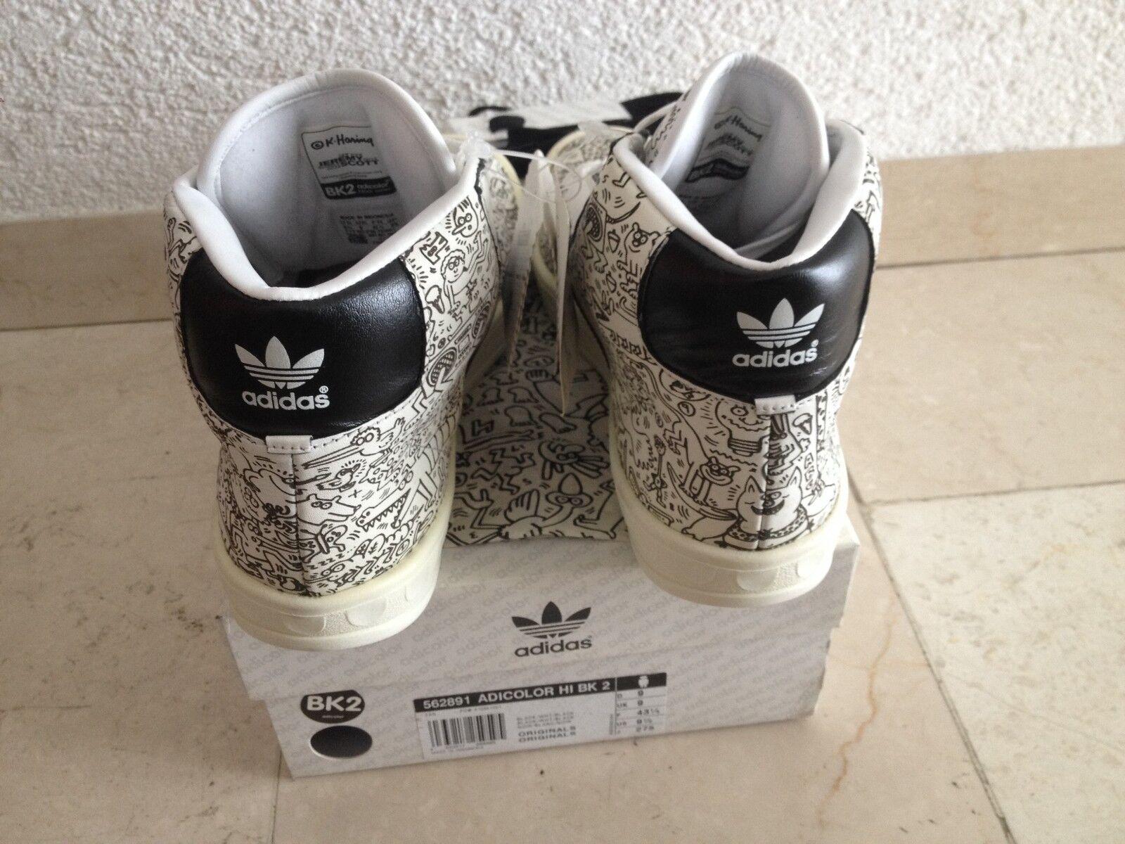 adidas ADICOLOR HI 9.5 BK2  439 US 9.5 HI BNWT 562891 prod. 01/2006 Keith Haring f48548