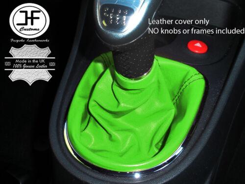Vert cuir véritable manuel gear stick gaiter fits seat leon 1P 2005–2011