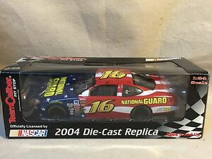 2004 Greg Biffle National Guard #16 NASCAR 1:24 Team Caliber Pit Stop 'Signed'