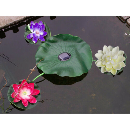 Floating Lily Pad Solar Light Pond Garden Decoration Water Feature Light Flowers