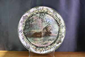 Royal-Doulton-AFRICAN-SERIES-LION-Chop-Plate-13-034-D6368-Collector-Platter