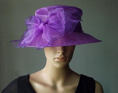 Kleidung & Accessoires Bescheiden Damenhut Lila Flieder Violett Organza Hut Brauthut Organzahut Anlasshut Schleife Braut-accessoires