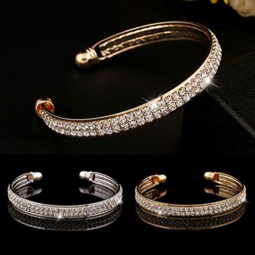 Bracelets femmes cubique Cuff Bracelet Full strass Ouvert Bangle Bijoux