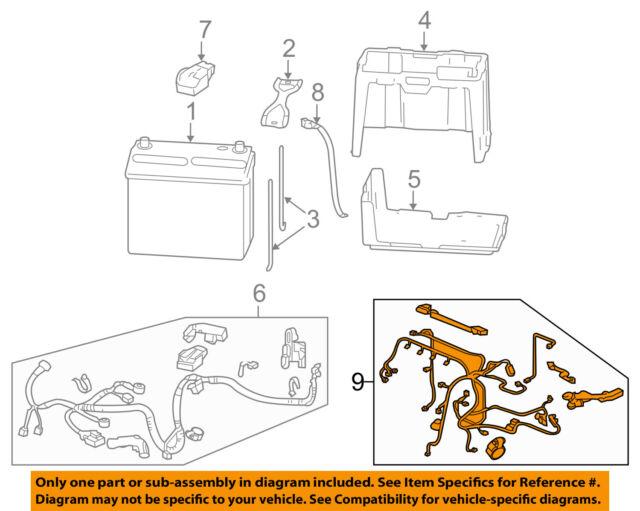 2006 2011 honda civic automatic engine wire harness ebay 2009 Honda Civic Engine Diagram honda oem 06 11 civic 1 8l l4 battery engine wiring harness 32110rnaa52