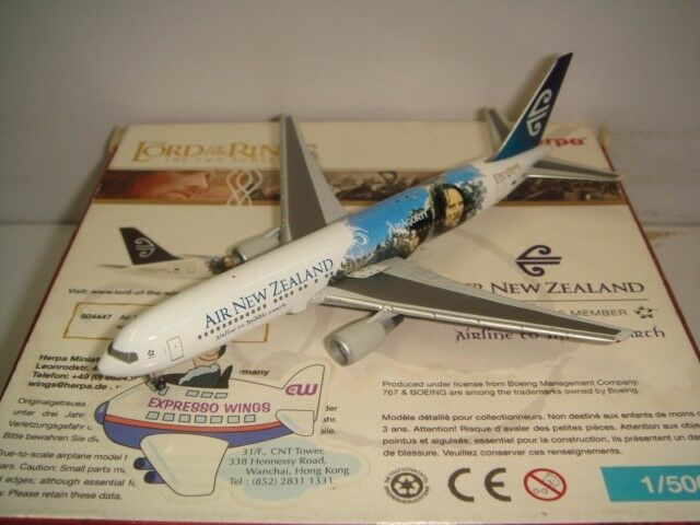 Herpa Wings 500 Air New Zealand B767-300ER  Señor de las alas-aragron  1 500