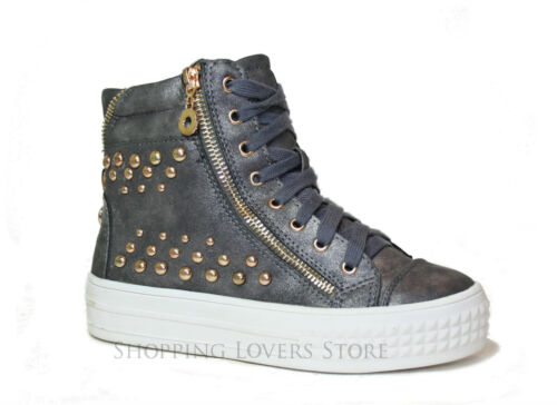 Glitter Scarpe Borchie Ginnastica 676 Doppio Fondo Donna Zip Sneakers Zeppa Cod XwCaBCq