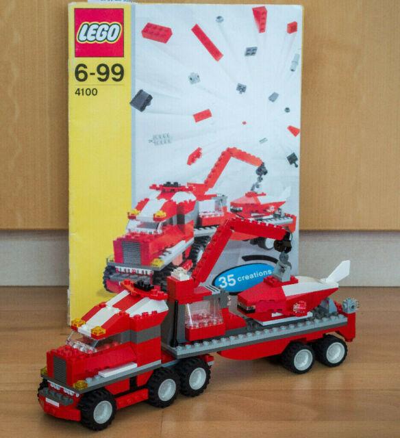 LEGO 4100 Maximum Wheels,35 Konstruktionen,Lastwagen,Auto,Fahrzeug,Flugzeug